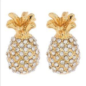 Late Spade pineapple stud earrings
